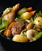 meat and vegetable hotpot