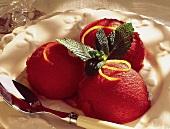 Raspberry brandy sorbet