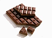 Bar of plain chocolate