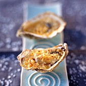 Hot oysters with shallots and red wine