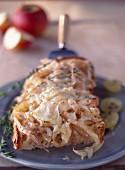 Beaufort toasted open-sandwich