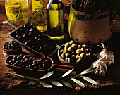 product - olive oil and aperitif olives