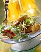 Sirloin, purslane and new potatoes