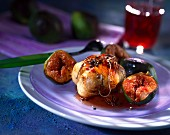 Paupiettes of turkey with figs and spices