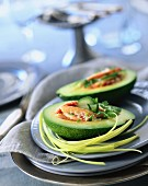Avocade with crab