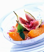 Fruit with sorbet
