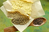 Powdered mustard and mustard grains