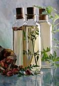 Bottles of flower waters