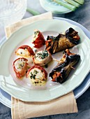 Roast spiny lobster medaillons with eggplant rougails