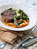 Griiled beef steak from Camargue with Pastis sauce