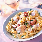 Salmon tagliatelle with lemon sauce