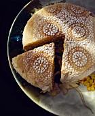 Marokkanische Pastilla aus Tetuan, mit Hähnchen, Zwiebeln und Zitrone