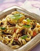 Freesh pasta with artichokes