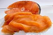 Fresh salmon and smoked salmon