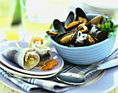 Rollmops and mussels