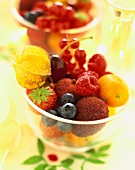 dish of fresh fruit