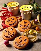 Halloween iced cookies