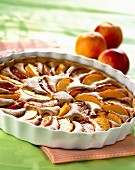 Peach and nectarine tart with almond cream