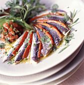 Fresh anchovy salad