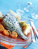 Sea bream in Escabeche cold marinade sauce