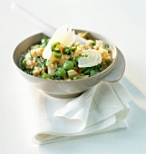 Risotto with broad beans and mint