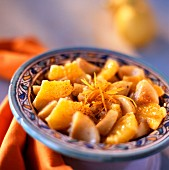 Artichoke and orange salad