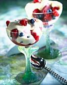 Summer fruit Sabayon dessert