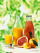 Selection of citrus fruit juices