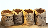 Sacks of coffee beans
