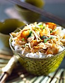 Thai pear and chicken salad