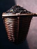 A strainer of jasmine tea