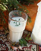 Ayran (Moroccan yoghurt drink with mint)