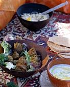 Arabische Vorspeisen: Falafel