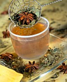 Herbal tea with star anise and mint