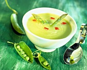 Pea and asparagus soup