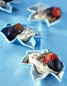Dates, strawberries, chocolate and Mascarpone
