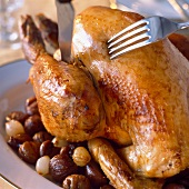 Roast turkey with chestnuts