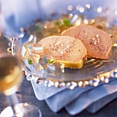 Slices of foie gras terrine