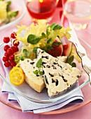 Fancy plate of roquefort
