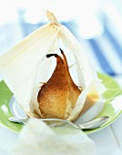 Pears en papillote with mascarpone