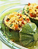 Courgettes stuffed with wheat