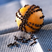 Orange stuck with cloves