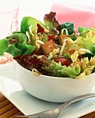 Soy-marinated tofu salad
