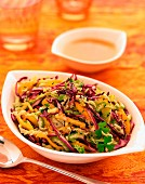 Coleslaw and red cabbage salad