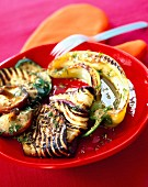 Grilled vegetables marinated in olive oil