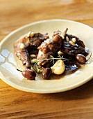 rabbit baranccini with olives