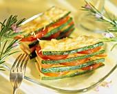 Zucchini and tomato lasagnes