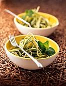 Carpaccio of zucchinis