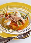 Fish and saffron smoked stew pot