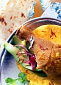 Chicken curry with saffron